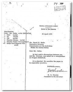 CIA cover memo for file describing Project ZR/RIFLE, relating to plots against Cuban leader Fidel Castro (see Document No. 9)