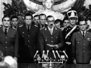 "Gen. Jorge Rafael Videla took power in Argentina in a 1976 coup and led a military junta that killed thousands of his fellow citizens in a dirty war to eliminate ""subversives."" AP Photo/Eduardo Di Baia, File"