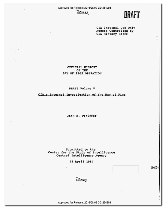 CIA Releases Controversial Bay of Pigs History