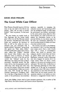 The Great White Case Officer